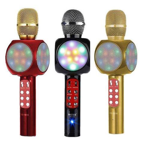 Микрофон с колонкой и цветомузыкой