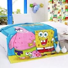 Губка Боб одеяло детское флисовое