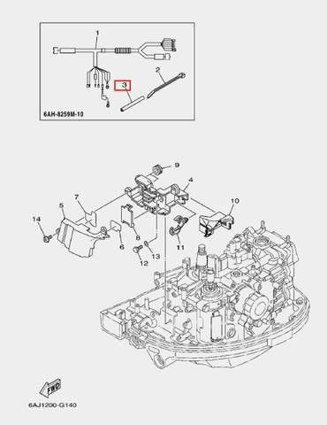 Трубка для лодочного мотора F20 Sea-PRO (14-3)