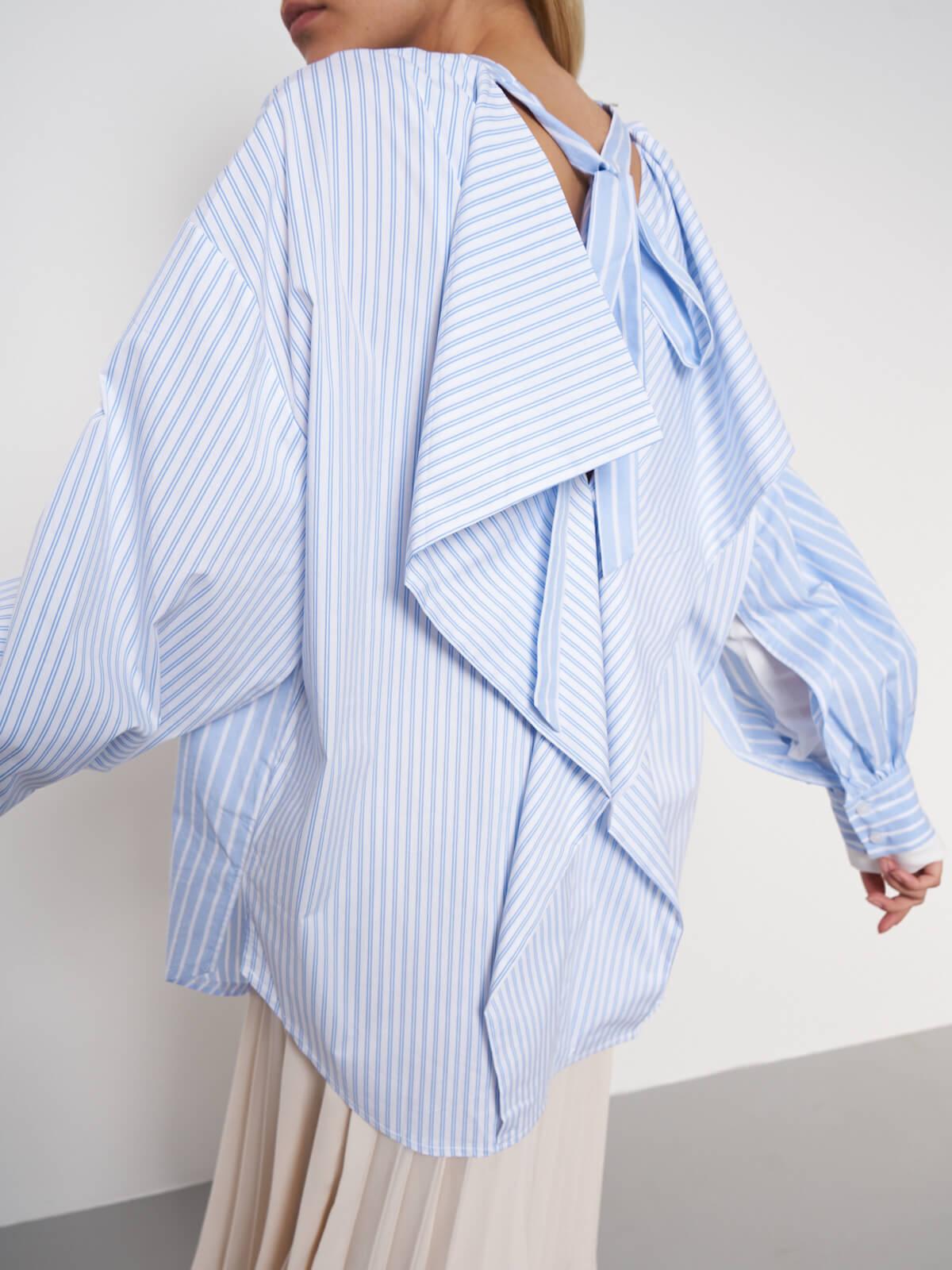 Рубашка асимметричная в полоску