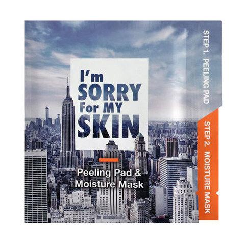 I'm Sorry For My Skin Peeling And Moisture Mask - Набор для эксфолиации и увлажнения кожи лица