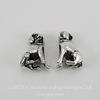 """Бусина металлическая для пандоры """"Собака"""" (цвет - античное серебро) 16х12 мм"""