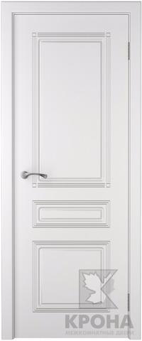 Дверь Крона Стиль, цвет белая эмаль, глухая