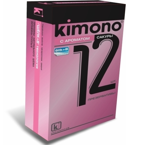 Презервативы KIMONO по 12 шт (с ароматом сакуры)