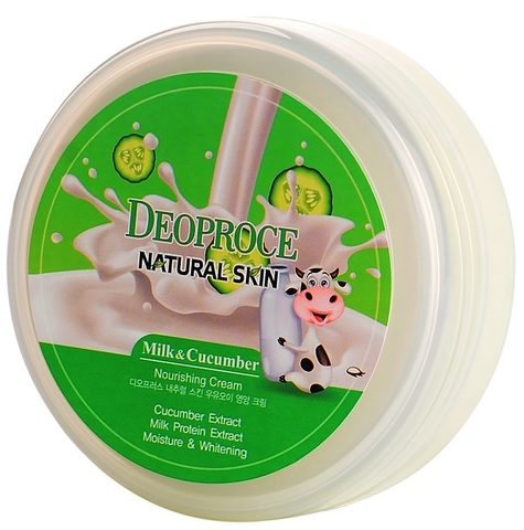 DEOPROCE NATURAL SKIN NOURISHING CREAM MILK CUCUMBER