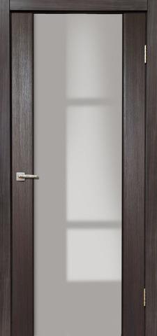 Дверь Дера Оскар 981, стекло триплекс белый, цвет венге, остекленная