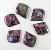 Кабошон Яшма Императорская (прессов., тониров), цвет - фиолетовый, 35х29 мм