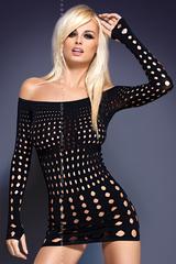 Черное платье-сетка Rocker dress
