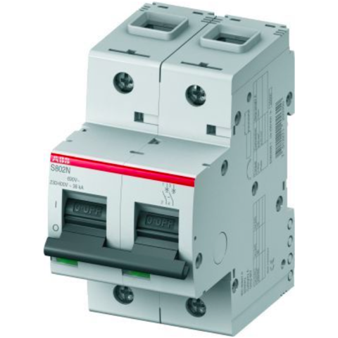 Автоматический выключатель 2-полюсный 20 А, тип C, 20 кА S802N C20. ABB. 2CCS892001R0204