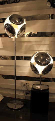 replica Bubble floor lamp silver