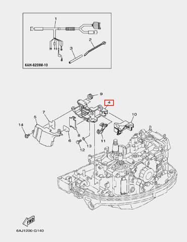 Держатель в сборе для лодочного мотора F20 Sea-PRO (14-4)