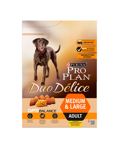 Pro Plan DUO DELICE сухой корм для взрослых собак (курица, рис) 2,5 кг