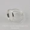 Основа для кольца с сеттингом для кабошона 16 мм (цвет - серебро)