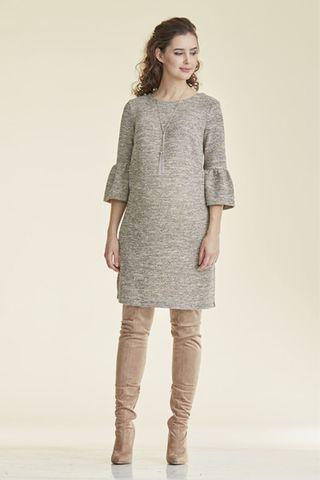 Платье для беременных 08785 серо-бежевый