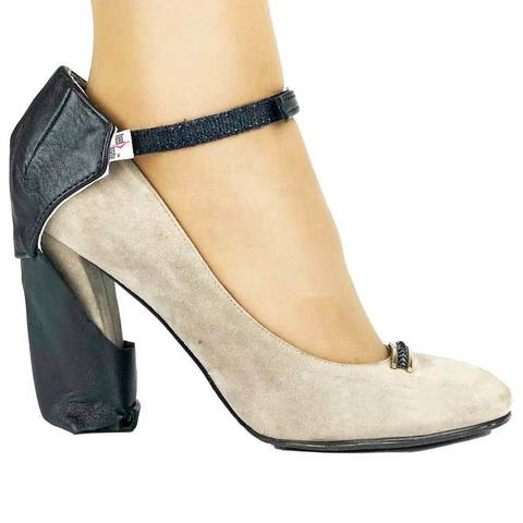 Автопятка защита для обуви c толстым каблуком черная