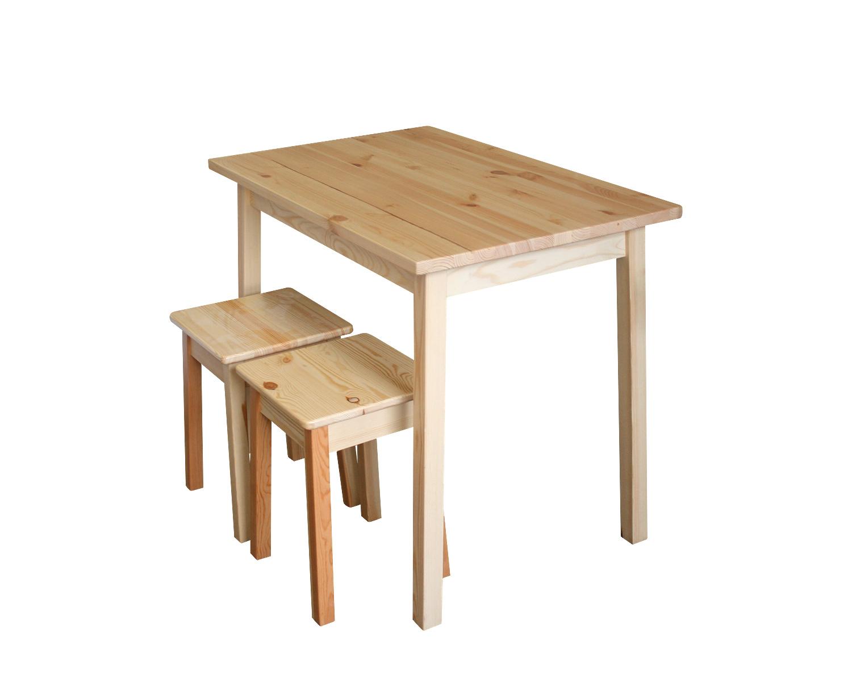 Стол обеденный, столешница 900х600 мм, с табуретами Дебют-Ж