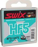 Парафин лыжный высокофтористый Swix HF05X-4 Turquoise -8C/-14C 40гр