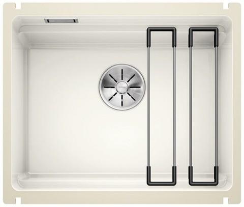 Кухонная мойка Blanco Etagon 500-U Ceramic PuraPlus, глянцевый белый