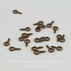 Штифт с петлей винтовой 8х4х1 мм (цвет - античная медь), 20 штук