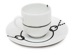 Кофейная чашка с блюдцем Ben edict 80 мл AR00062