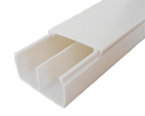 ECO 40/2/25 Миниканал 40х25мм. 1шт=1м. Цвет Белый. Ecoplast (ЭКОПЛАСТ). 77213