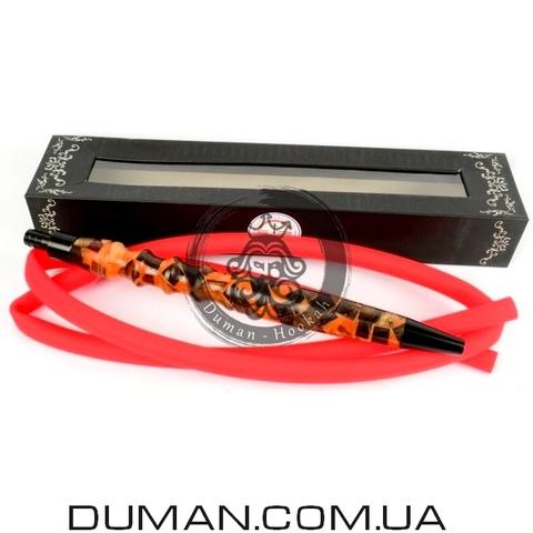 Копия Комплект силиконовый шланг Soft-Touch и мундштук Yahya Captain для кальяна |Brown Red