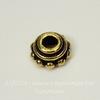 """Шапочка для бусины TierraCast """"Бусинки"""" (цвет-античное золото) 7х3 мм"""