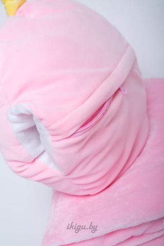 Милый Единорог с пледом Розовый