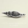 """Подвеска TierraCast """"Ракушка"""" (цвет-античное серебро) 24х8 мм"""