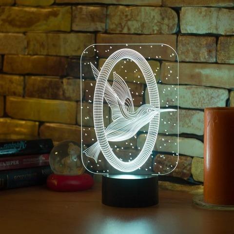 3D лампа Колибри и кольцо