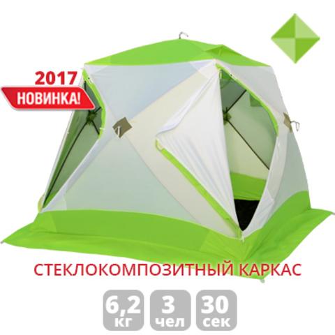Палатка для зимней рыбалки Лотос Куб Классик С9 (зеленый/оранжевый)