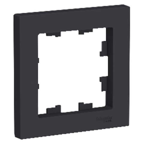 Рамка на 1 пост. Цвет Карбон. Schneider Electric AtlasDesign. ATN001001