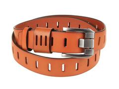 8245-1 ремень кожаный мужской, рыжий
