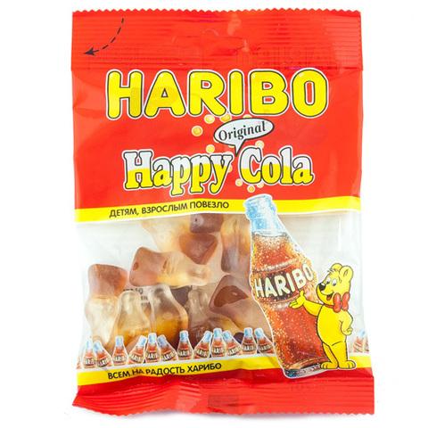 """Мармелад """"Haribo"""" жевательный Happy Cola 70г"""