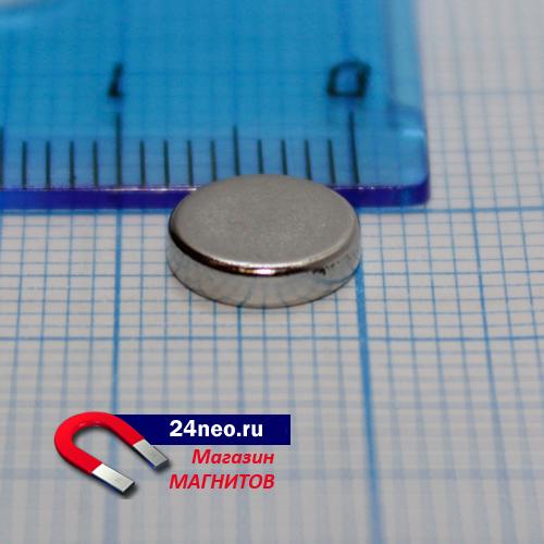 Неодимовый магнит диск 8х2 мм