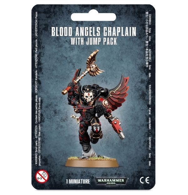 Blood Angels Chaplain With Jump Pack. Упаковка