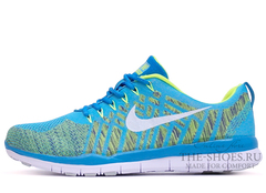 Кроссовки Женские Nike Free Run 5.0 Flyknit Blue Green White