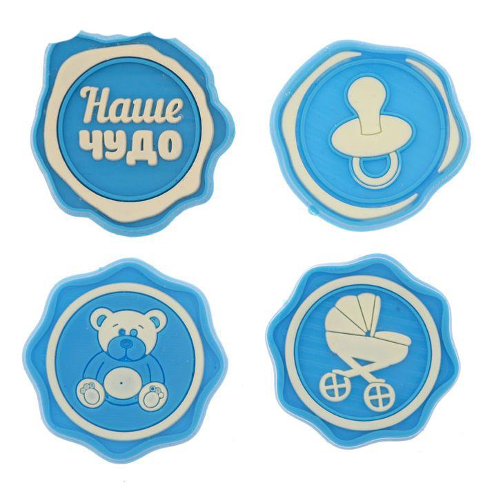Набор резиновых декоративных элементов, 9*12,5  см.