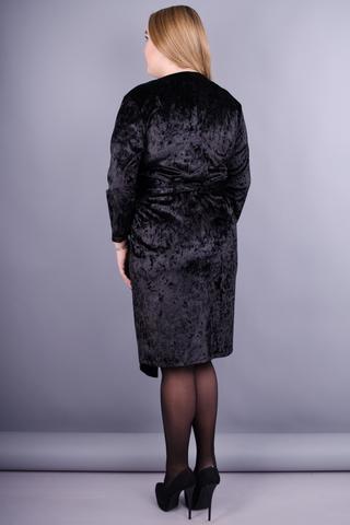 Рубин. Изысканное платье больших размеров. Черный.