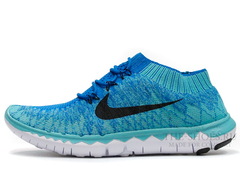 Кроссовки Мужские Nike Free Run 3.0 Flyknit Blue Turquoise White Black