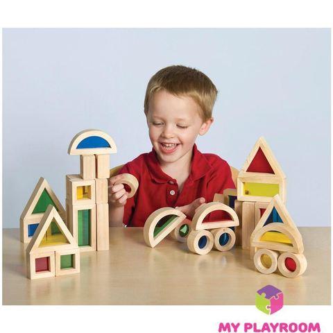 Большой конструктор Радужные блоки (Rainbow blocks), 40 деталей 3