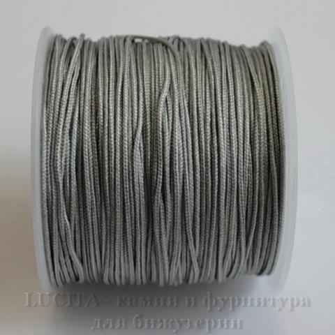 Нейлоновый шнур 1 мм (цвет - серый) 35 м