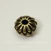 Бусина - рондель TierraCast (цвет-античная латунь) 10х6 мм