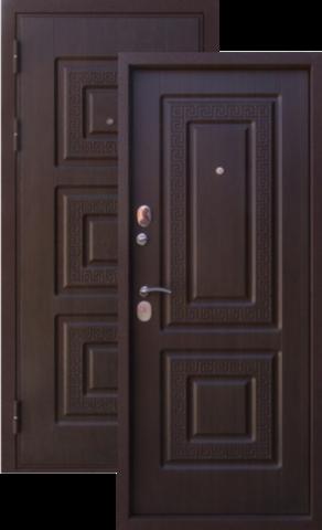 Дверь входная Алмаз Алмаз 2, 2 замка, 1,5 мм  металл, (тиковое дерево+тиковое дерево)