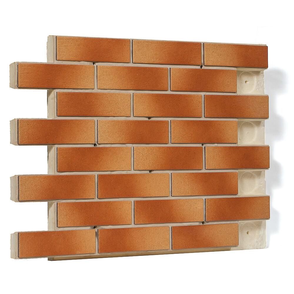 Клинкерная термопанель фасадная Регент, плитка Paradyz, цвет Aquarius Beige, толщина 80 мм