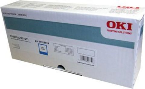 OKI TONER-C-ES7411/PRO7411WT - Тонер-картридж голубой для принтера Pro7411WT (44318619)