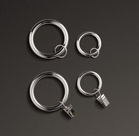 Classic Drapery Rings (Set of 7) - Polished Nickel