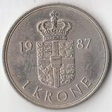 K6092, 1987, Дания, 1 крона