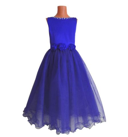Платье макси синее