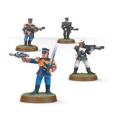 Mordian Iron Guard Squad. Сержант и рядовые пехотинцы